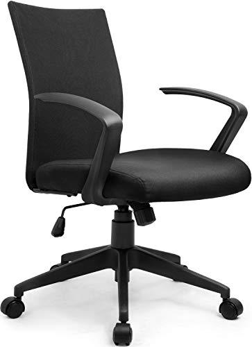 Umi. by Amazon - Bürostuhl Drehstuhl Schreibtischstuhl mit Armlehne Chefsessel Höhenverstellung Konferenzstuhl PC Stuhl Schwarz