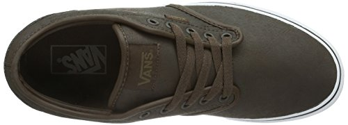 Vans M Atwood, Baskets mode homme Marron (Buck Leather/Espresso/White)