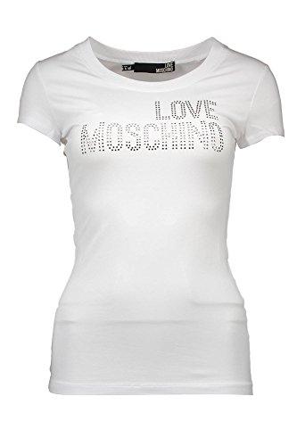 LOVE MOSCHINO W 4 B19 2V E 1257 T-SHIRT MANICHE CORTE Damen weiß A00