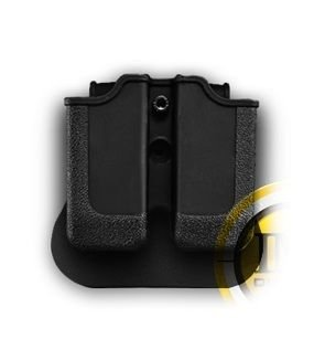 H&K P30 Double Paddle Mag Pouch Black Rotates 360 degrees durable polymer and a genuine IGWS's firing range earplugs kit. by IMI Israel -