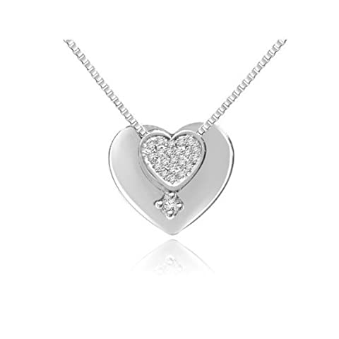 0.09ct G/VS1 Diamond Pendant for Women with Round Brilliant Diamonds in 18ct White Gold without Necklace