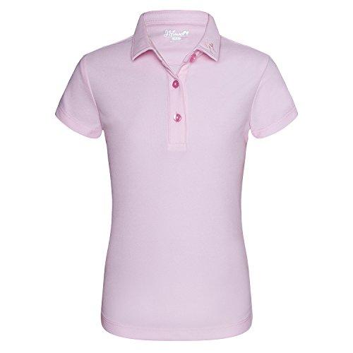 JITIMAO Mädchen Polo Shirts Golf Funktional Sport T-Shirt, Rosa - 120