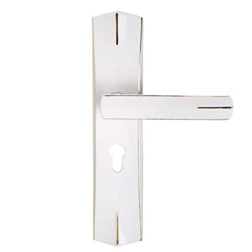 Keyed Lock-set (ZHFC European Interior Massivholz Tür Hardware Schloss Keyed Deadbolt Schloss Mechanismus Für Optimale Sicherheit Swing Door Lock Handle Set)