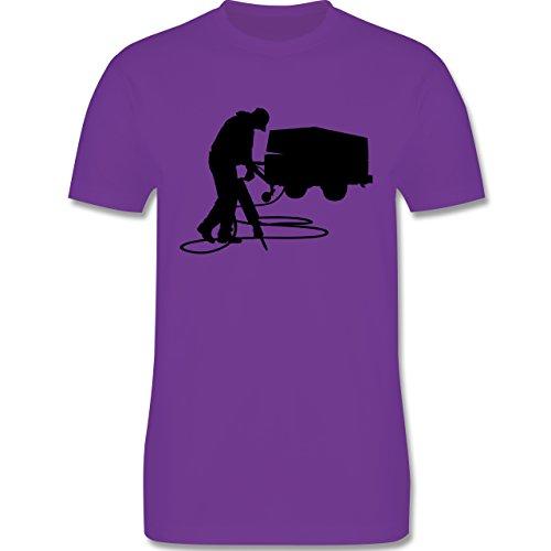 Handwerk - Bauarbeiter - Herren Premium T-Shirt Lila