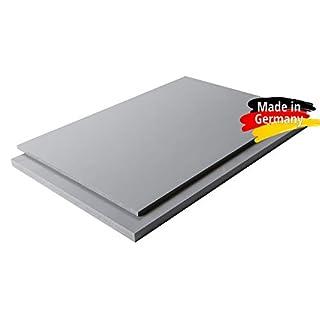 Platte aus Hart PVC Zuschnitt in | grau RAL 7011 | 100 x 49 cm | VERSCHIEDENE STÄRKEN | TOP QUALITÄT | … (100 x 49cm, 5mm)