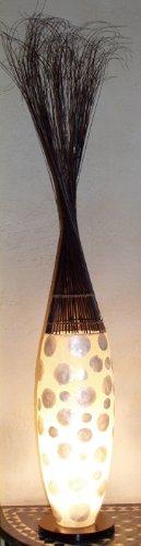 Guru-Shop Stehlampe/Stehleuchte Pandoria - in Bali Handgemacht aus Naturmaterial, Capiz/Perlmutt, Fiberglas, 130x25x25 cm, Oceanlights Muschelleuchten