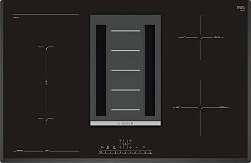 Bosch Plaque de cuisson à induction intégrée à une hotte, Noir