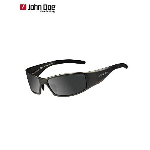John Doe Sonnenbrille Sonnenbrille Titan Revolution stark getönt, Unisex, Casual/Fashion, Sommer, Polycarbonat, schwarz, Einheitsgröße