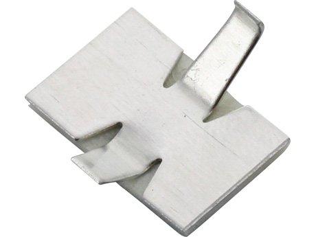 40x 9mm selbstklebend Aluminium Kabel-Clip offenem Arm stabil 9 Component-kabel
