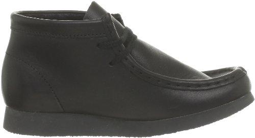 Clarks Originals Wallabeebt Boy, Chaussures montantes garçon Noir (Black Leather)