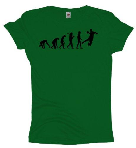 Ma2ca - Evolution - Handball - Damen Girlie T-Shirt Kelly