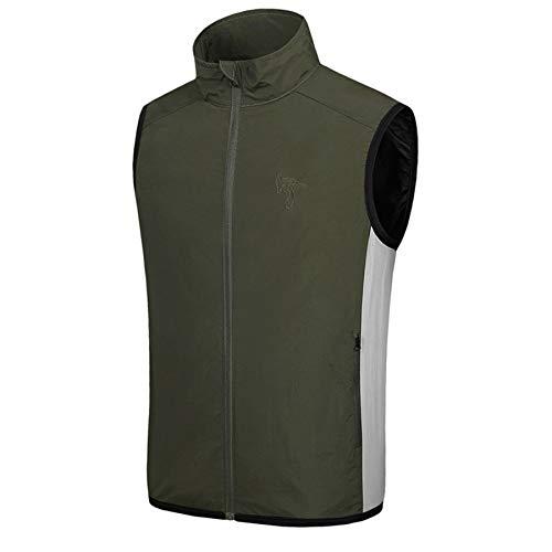 Tops Herren Sommer Shirts Basics Tank Tops Bluse Qmber Sommerkühlventilator Klimaservice Sonnenschutzwestenoberteil für Männer und Frauen mit doppeltem Verwendungszweck/Grün,XL -