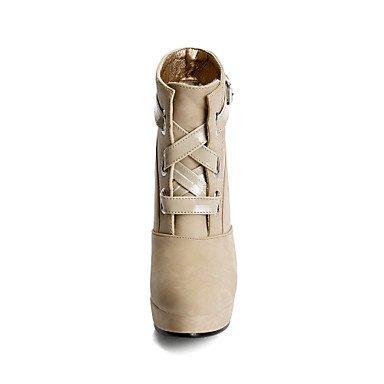 Les bottes pour l'hiver Chaussures formelle robe simili cuir boucle Talon occasionnels Blushing Pink