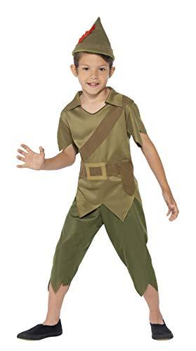 Robin Kostüm Schuhe - Smiffys Kinder Robin Hood Kostüm, Hut, Top und Hose, Größe: S, 44063