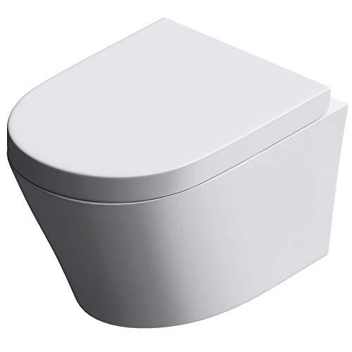 Design Toilette mit Soft Close, Keramik