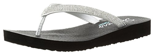 Skechers Meditation-Chill Vibes, Infradito Donna Bianco (White)