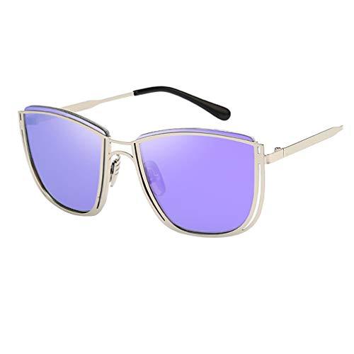 Rosennie Unisex Vintage Sonnenbrille Mode Retro Eyewear Fashion 100% UV400 Schutz Fahrer Brille Metallrahmen Rund Polarisiert Damen Herren Sonnenbrille Sunglasses Nachtsichtbrille
