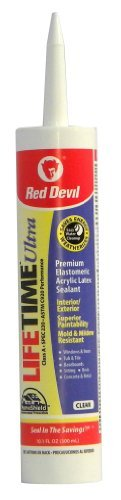 red-devil-0777-lifetime-ultra-premium-elastomeric-acrylic-latex-sealant-clear-101-ounce-by-red-devil