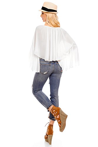 Mayaadi - Camicia - Senza spalline  - Basic -  donna Bianco