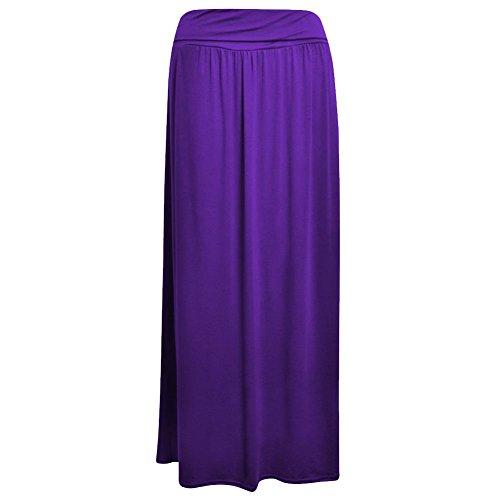 Janisramone le donne piegare sopra gonna maglia lunga vita