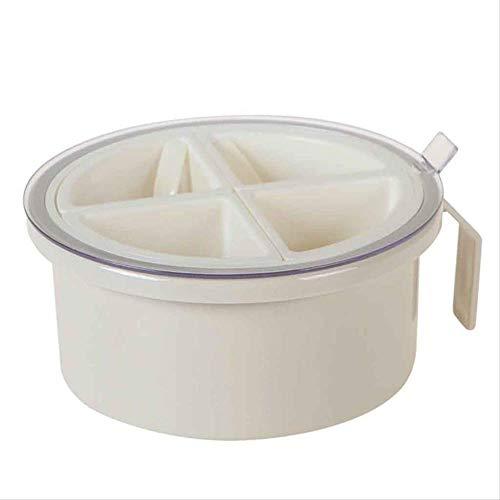 AZYJBF 2ps Plástico Multi-Rejilla Spice Jar Caja de Condimento Redondo Salero de Pimienta Dispensador de Almacenamiento de Herramientas de Cocina Caja de Almacenamiento deLuz Amarillo Claro
