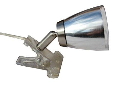 § § 1Spot Leseleuchte in Zange mit Kordelzug und mit Stecker. Zeitgenössische, schwenkbar, Finish aus Nickel & Aluminium inklusive. Leuchtmittel G933Watt (Pfirsiche Kordelzug)