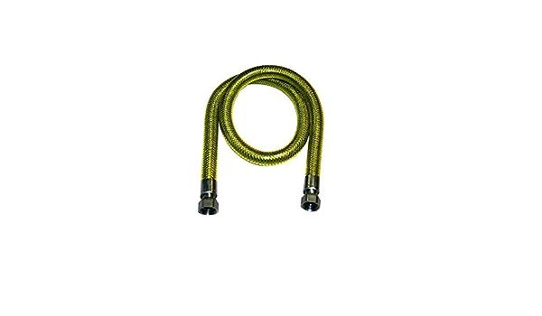 TUBO FLESSIBILE ACCIAIO INOX PER GAS 2 MT A NORMA UNI-EN 14800