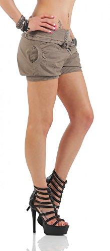 Danaest - Short - Relaxed - Uni - Femme Marron