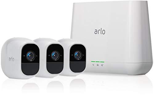 Arlo Pro 2 - Smart caméra de surveillance, paquet de 3, 1080p HD jour/nuit, grand angle 100% Sans Fils - VMS4330P-100EUS
