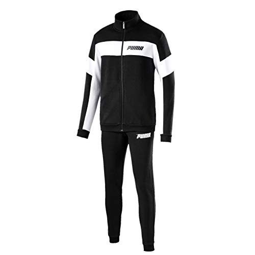 Puma Herren Rebel Sweat Suit Cl. Trainingsanzug, Cotton Black, L -