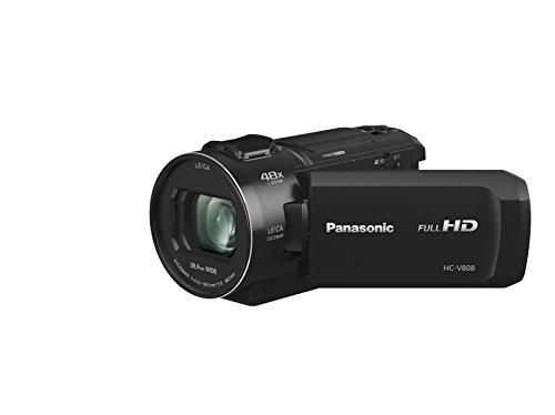 Panasonic HC-V808EG-K Full HD Camcorder (LEICA DICOMAR Objektiv, Full HD 50p Video, 24x opt. Zoom, opt. Bildstabilisator, WiFi, Wireless Twin Camera)