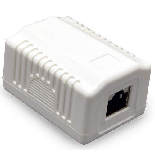 CABLEXPERT CAT5E FTP Single Port Surface Mount Box Single Surface Box