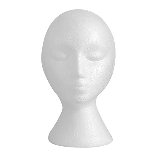(Weibliche Styropor Kopf aus Schaumstoff Perücke Brille Cap Display Mannequin Manikin Kopf Stand Modell)