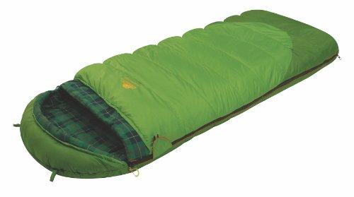ALEXIKA Schlafsack Siberia Plus, linke Reißverschluss, grün / kariertes grün, 80(Breite)x185(Länge)+35(Kopfstütze Länge), 9252.0101L