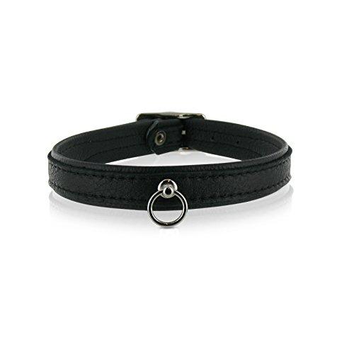 SiaLinda  Halsband echtes Elch Leder Ring 14mm breit. kl. O-Ring. a898bc04d2534