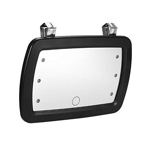 ZFW Auto Make-up Spiegel Sonnenblende Hd Innenspiegel Led Design Einfach zu bedienen Berührungsschalter Hochwertiger Kunststoff + Glas Produkte Klar und Langlebig