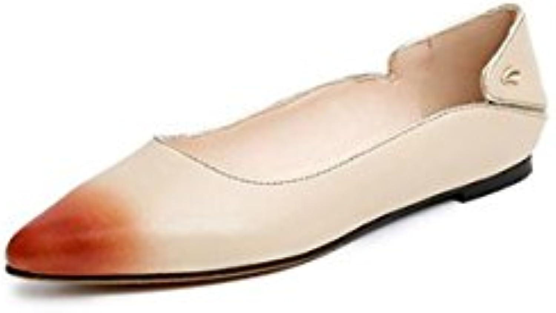 AJUNR Sandali Da Donna Alla Moda Scarpe scarpe scarpe scarpe singole testa acuminata a rivetto albicocca bocca poco profonda... | Conosciuto per la sua bellissima qualità  | Uomini/Donna Scarpa  145edd