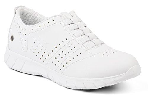 Suecos® Stina, Chaussures de Travail Femme, Blanc (Blanc), 36 EU