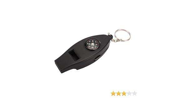 Dcolor Outil//Kit//Materiel de survie 4 en 1 mini thermometre de poche + boussole + sifflement + loupe