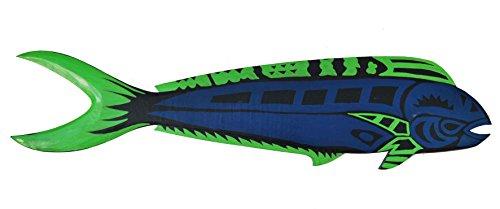 Pez-Tropical-Cartel-de-madera-en-100-cm-Longitud-para-colgar-Pez-Papagayo-pescado