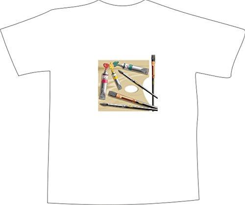 T-Shirt E211 Schönes T-Shirt mit farbigem Brustaufdruck - Logo / Grafik ...