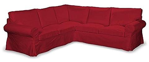 FRANC-TEXTIL 640-705-60 Ektorp Ecksofabezug, Etna, rot