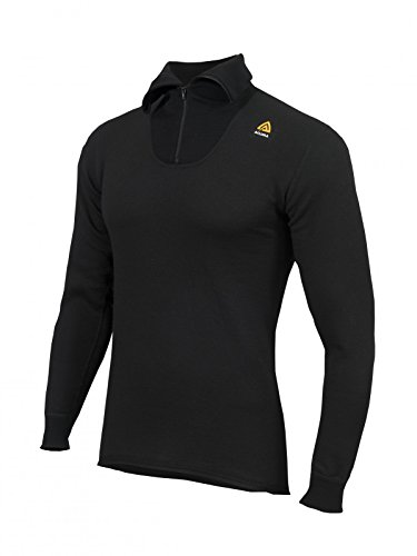 Aclima Hotwool Polo with Zip Unisex Jet Black