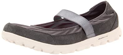 Skechers Women's GOwalk Trainers - Grey (Charcoal), 2.5 UK