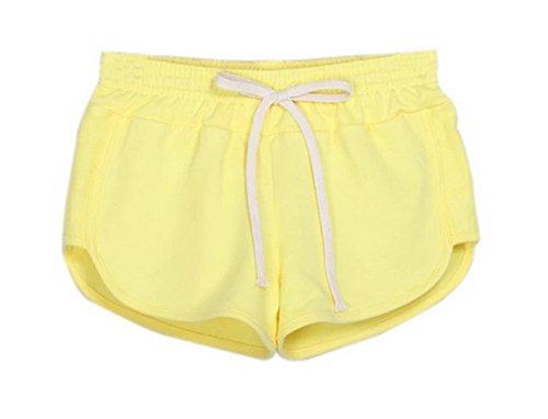 Y-BOA 1Pc Short En Coton Femme Taille L Sport/Mince Janue