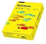 5 X Kopierpapier 500BL intensiv gelb A4 80g RAINBOW INTENSIV 88042387