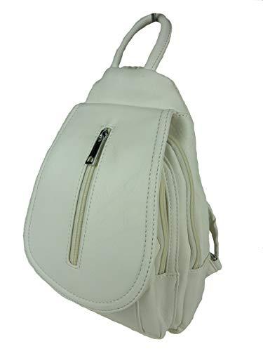 bags & more MOGLI Damen Rucksack satchel Cityrucksack Farbwahl (weiß) Bella Sling