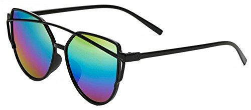 Da.Wa Sonnebrille Metall Sonnen Brille Persönlichkeit Hipster Brille,Bunt