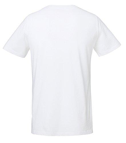 Unisex T-Shirt aus 100% Bio-Baumwolle, Bio Tshirt mit Rundhalsausschnitt, Bio Kurzarmshirt T-Shirt mit seitlichem Schlitz, Bio Shirt Damen und Herren Weiß