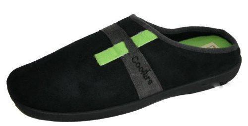 Coolers - Zapatillas de estar por casa para hombre, color negro, talla 8 UK